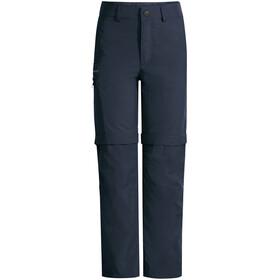 VAUDE Detective Antimos Zip-Off Pants Kids, azul